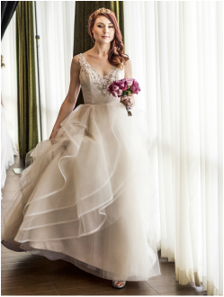 Haut Couture wedding fashion at boutique bridal show Hilton Pasadena