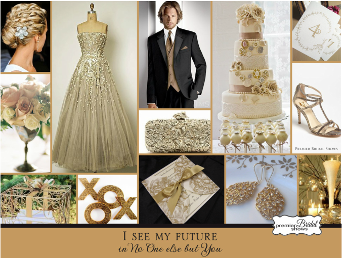 Gold and Black Wedding Premier Bridal Shows