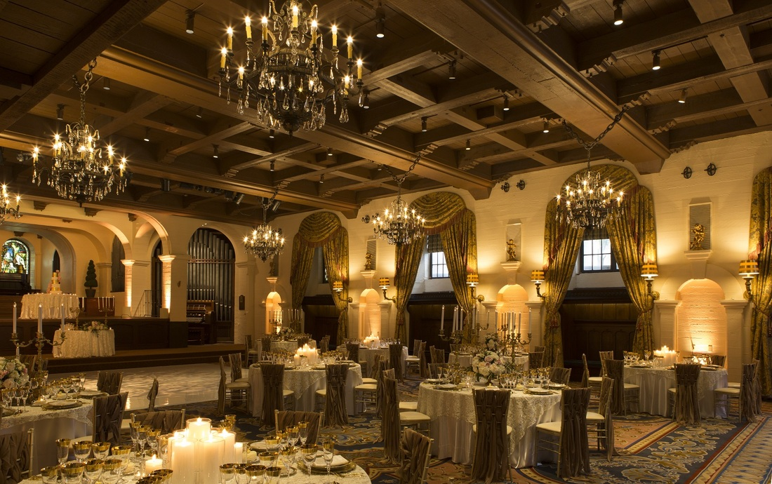 Unique Venues like the Mission Inn in Riverside at Premier Bridal Shows